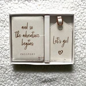 ✨NEW✨ Matching Passport Cover & Luggage Tag Set